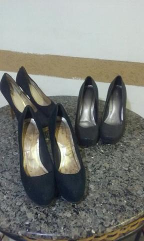 Lote de 3 sapatos semi novos