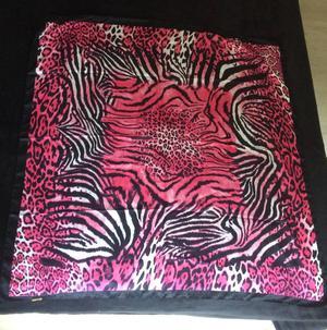 lenço shop 126 nunca usado animal print rosa lindo!
