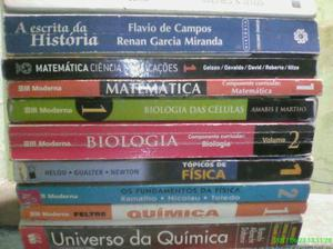 10 livros. matematica.fisica.biologia,historia. quimica