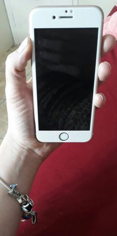 Iphone rose 6s 64 gb. novíssimo com caixa e capinhas caixa