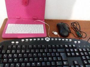 Teclado multimídia + teclado USB + mouse