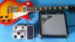 Guitarra Les Paul Condor clpx + Cubo Fender + Pedaleira zoom