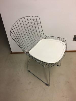 4 cadeiras Bertoia em aço inox cromado