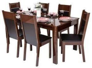 conjunto de sala de jantar mesa e 6 cadeiras