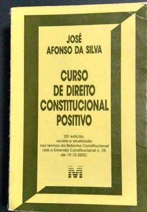 Livro Curso de Direito Constitucional Positivo