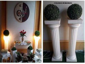 Colunas Romanas Luminosas para Decorações