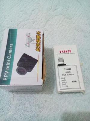 Transmissor 600 Mw + Mini Cam  Linhas Para Fpv