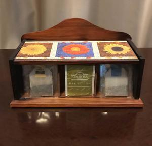 linda caixa porta chá