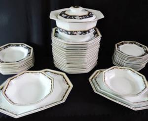 lindo aparelho de jantar em porcelana manufatura schmidt
