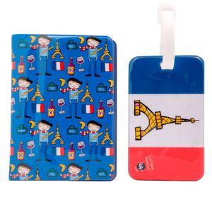 Porta Passaporte e Tag para mala Paris