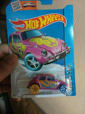 Minuatura VW Fusca Hippie Pink