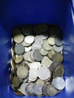Pote de moedas antigas