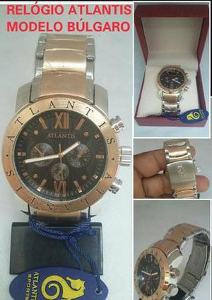 c196d2cc511 Relógio atlantis. modelo búlgaro original prova d água