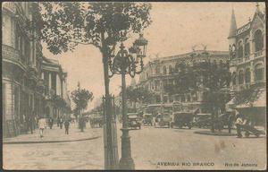 Rio de Janeiro - Avenida Rio Branco - Cartão Postal antigo