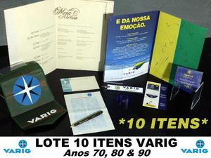 Varig Lote 10 Peças - Itens Varig Aviação