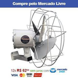 Ventilador de parede turbo alta vazão industrial 18 metros