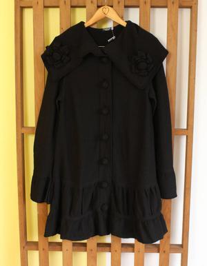 sobretudo tricô preto