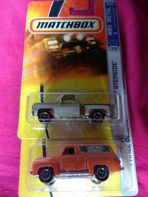 Matchbox Chevy Stepside 75 + Ford F-100 Panel