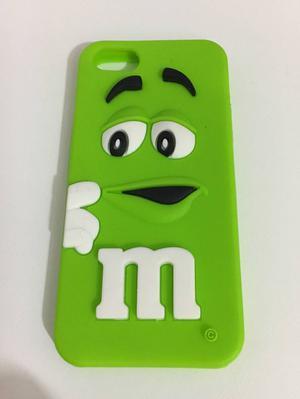 capinha de silicone m&m's para iphone 5/5s