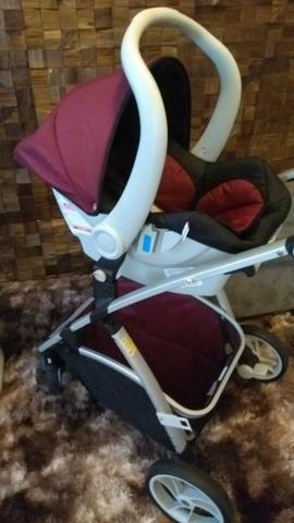 Carrinho de bebê + bebê conforto + base carro