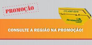 Locação de caçambas para entulho Guarulhos