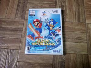 Mario E Sonic Winter Olimpic Games Original Para Wii
