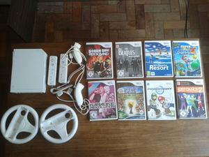 Nintendo Wii (PAL) + 9 jogos + acessórios