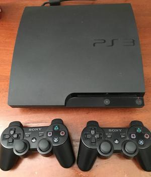 PlayStation 3 Slim 160 GB + dois controles DualShock 3