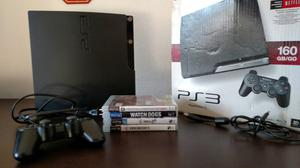 Playstation 3 Slim HD 160 GB + 4 Jogos