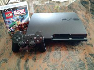 Playstation 3 c/ 1 Controle e 1 Jogo