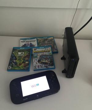 Wii U com 4 jogos