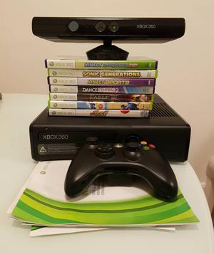 Xbox 360 slim +Kinect + 7 jogos originais