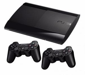PS3 Super Slim 250 GB com 2 Controles e 2 Jogos com Garantia