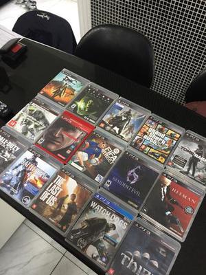 15 jogos de PlayStation 3 em ótimo estado