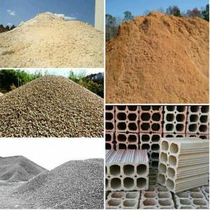 Promoção de tijolos areia seixo brita e barro