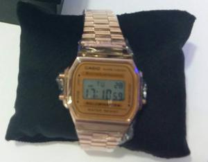 Relógio Aço Inoxidável Rosê + Caixa