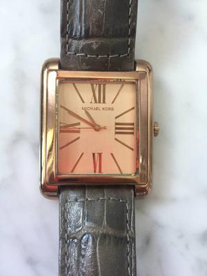 Relógio Michael Kors Original Rosê Com Pulseira de Couro