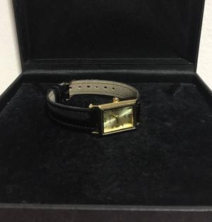 relógio backer com pulseira de couro