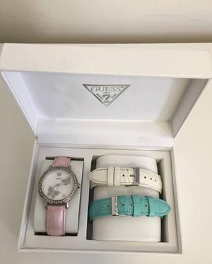 relógio guess feminino c/ 3 pulseiras