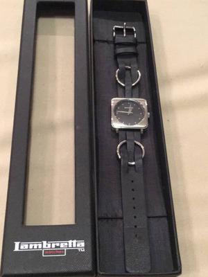 relógio lambretta cassola lady preto com pulseira de couro