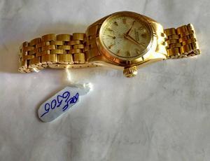 relógio marca Rolex modelo osyter todo em ouro rosado