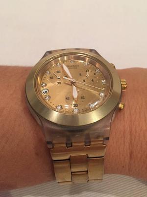 525116f4c0b Relógio swatch irony diaphane gold original