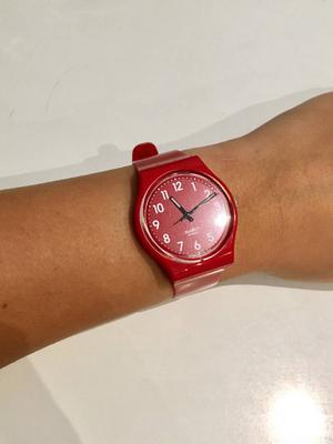 583baf5171b Marca seatch condição usado relógio swatch vermelho