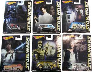 Hot Wheels Pop Culture Star Wars -Pack c/ 6 Minis