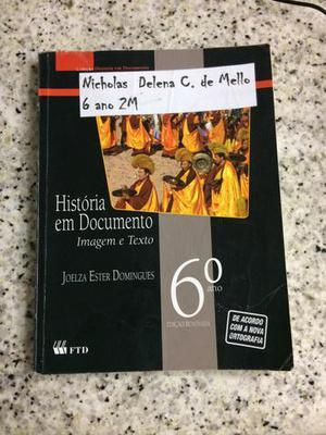 Livro de história - História em Documento 6º amo