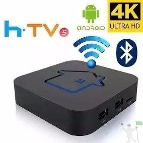 Receptor Htv 5 Iptv Box 4k Com Bluetooth, Wi Fi, Smart Tv