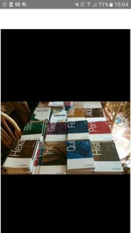 41 livros pré-vestibular coleção completa poliedro