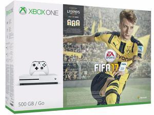 Xbox One S 500 GB com Fifa 17 Novo e Lacrado com Garantia