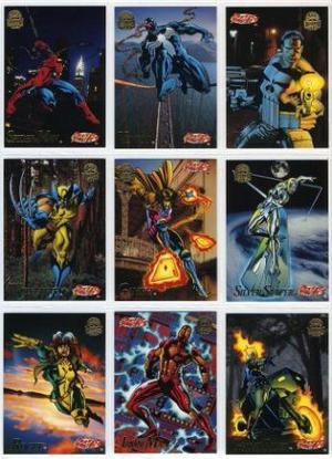 Coleção Completa Cards Marvel Fleer Universe