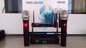 Microfone Profissional Wereless Via VHF/UHF Alta Potencia